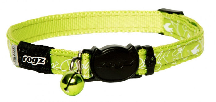 Rogz Collar Safeloc Silkycat Lime