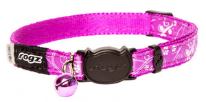 Rogz Collar Safeloc Silkycat Pink