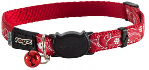 Rogz Collar Safeloc Silkycat Red