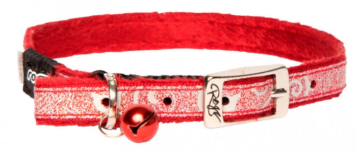 Rogz Collar Pin Buckle Sparklecat Red