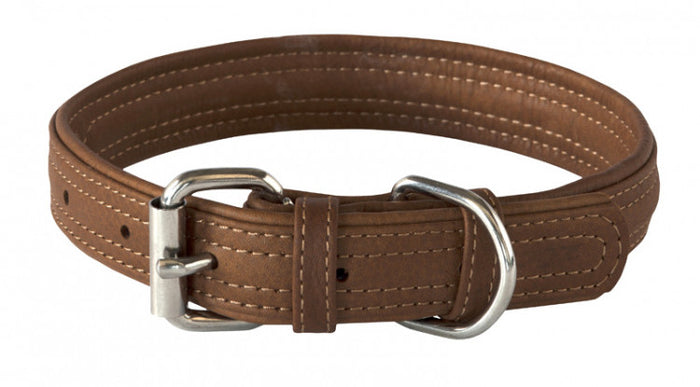 Rogz Leather Collar Brown
