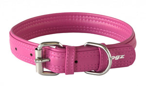 Rogz Leather Collar Pink