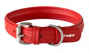 Rogz Leather Collar Red