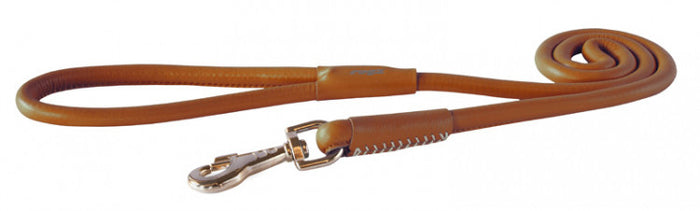 Rogz Leather Lead Brown