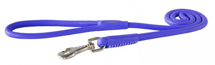 Rogz Leather Lead Purple