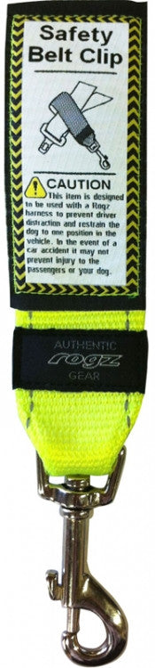 Rogz Utility Safety Belt Clip Dayglow