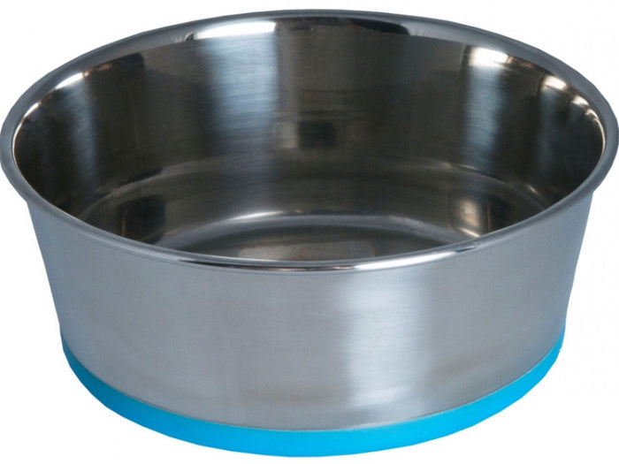 Rogz Slurp Stainless Steel Bowl Blue Dog Bowl