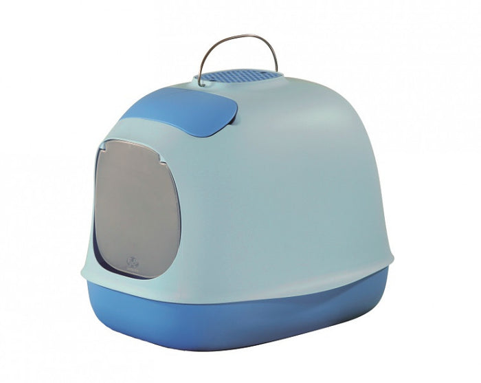United Pet Minu Covered Cat Litter Box Blue