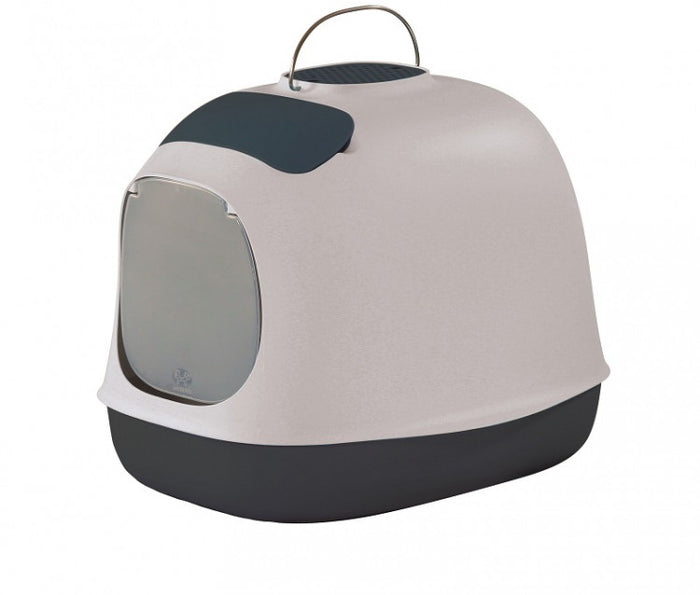 United Pet Minu Covered Cat Litter Box Nougat