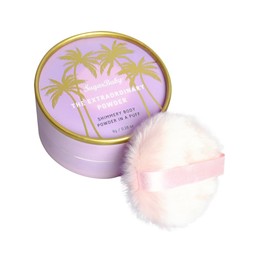 THE EXTRAORDINARY POWDER PUFF Shimmering Body Powder