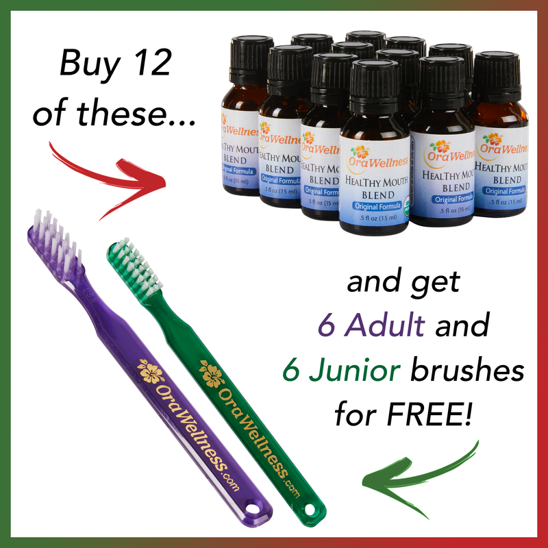 Holiday HealThy Mouth Blend + Free PLASTIC Bass Toothbrush Offer