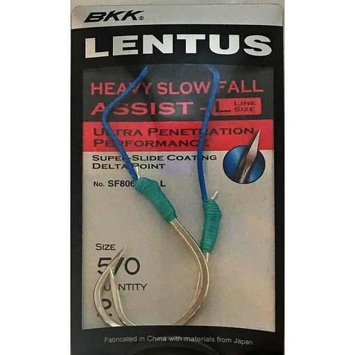 BKK Lentus SF8063 (L) Heavy Slow Fall Assist Hooks - KBE Anglers Hub