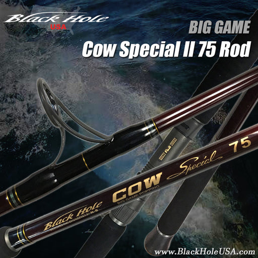 "Black Hole 7'4"" Cow Special II 75 Popping Spinning Rod - KBE Anglers Hub"