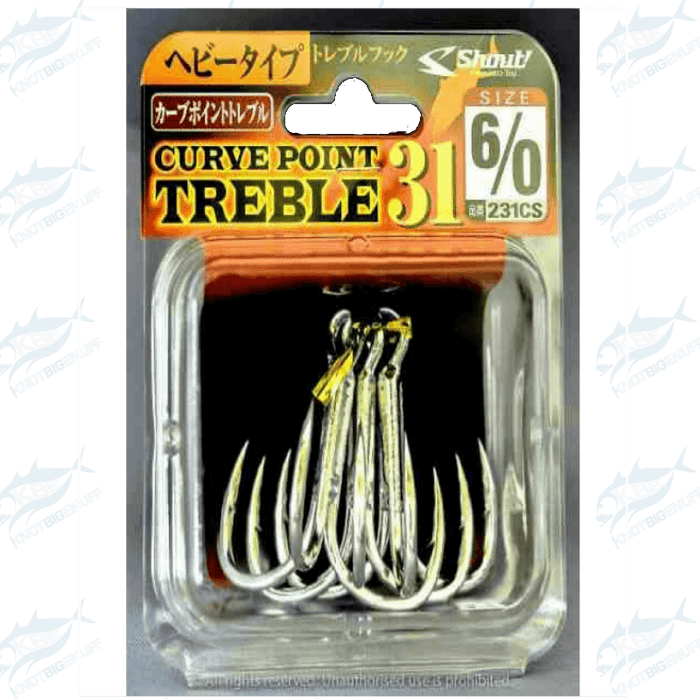 Shout Curve Point Treble 31 - KBE Anglers Hub