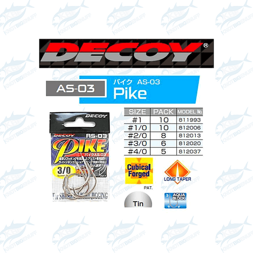 Decoy Pike Hooks AS-03 - KBE Anglers Hub