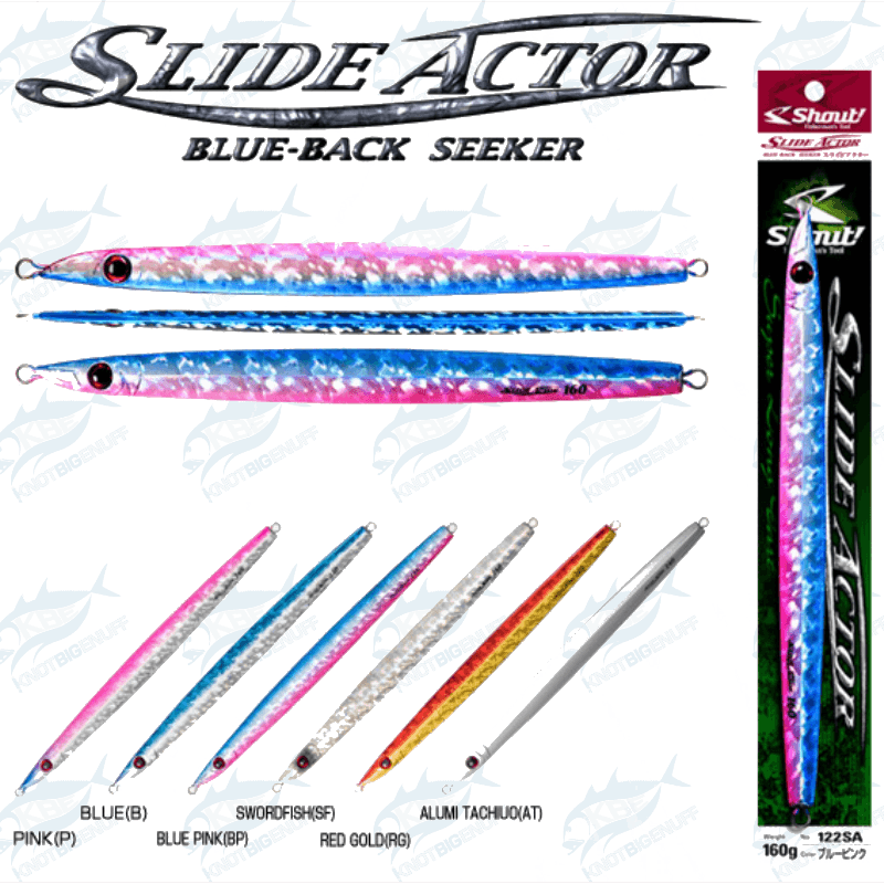 Shout Slide Actor Blue-Back Seeker - KBE Anglers Hub