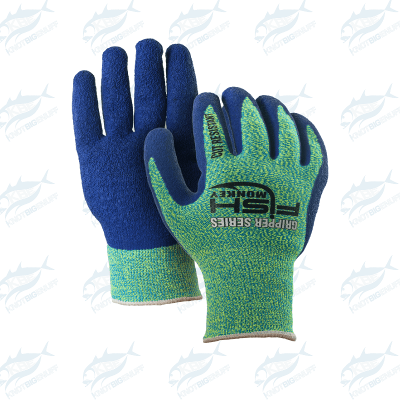 Fish Monkey Filet Gripper Glove - Neon Green/Royal - KBE Anglers Hub