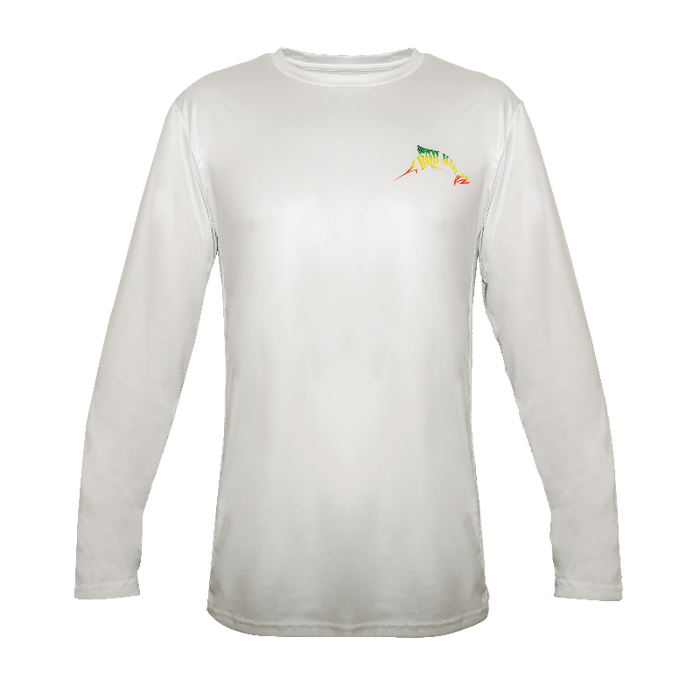 Bob Marlin Rasta Tuna Performance Shirt – White - KBE Anglers Hub