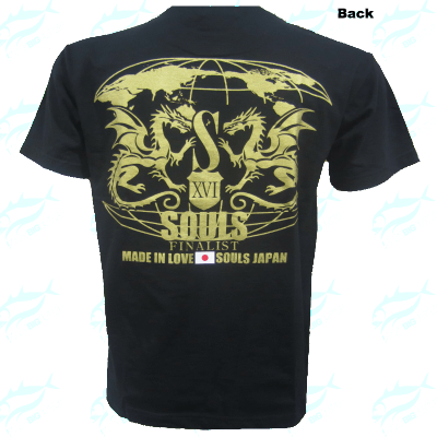 Souls Finalist Performance Cotton Dragon Type Black Gold Shirt