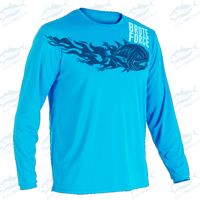SportyFish Fury Series Shirt LS Turquoise