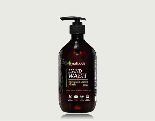 Natipods Hand Wash with Australian Lemon Myrtle essential oil (front view)