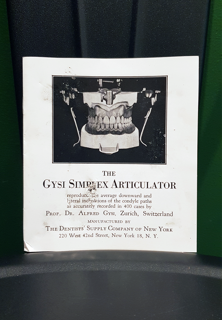 Gysi Simplex Dental Articulator Model 1914
