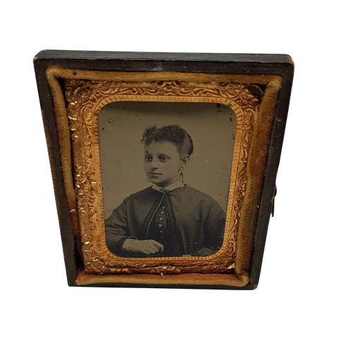 Antique Victorian Framed Tintype c.1860s