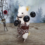 """The Strongman"" Taxidermy Mouse"