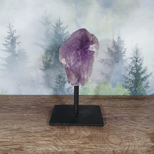 Amethyst Crystal Point On Metal Stand