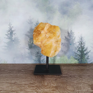 Citrine Rough Chunk On Metal Stand