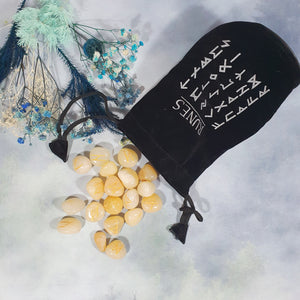 Yellow Aventurine Runes Set