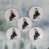 Set of 5 1970s Mondadori Tristan the Clown Tin Coasters