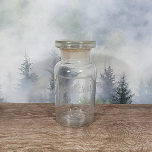 Vintage Resorcinol Glass Apothecary Bottle