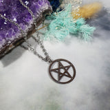 Inverted Pentagram Stainless Steel Necklace