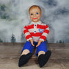 Vintage 1970s 'Willie Talk' Horsman Ventriloquist Doll in Striped Shirt