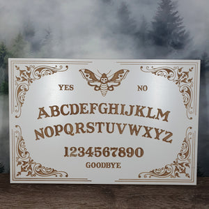 Decorative Moth Ouija Board - White 450mm