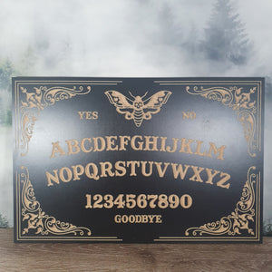 Decorative Moth Ouija Board - Black 450mm
