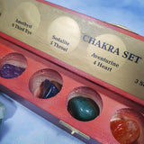 Chakra Set in Wooden Box