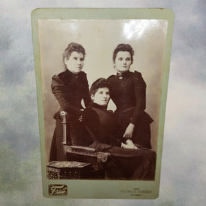 3 Sisters in Mourning Tintype Cabinet Card