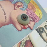 Antique Blue Glass Prosthetic Eye
