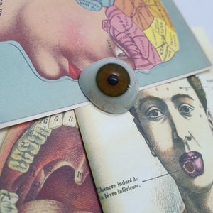 Antique Hazel Glass Prosthetic Eye