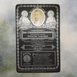 Antique Funeral Memorial Cabinet Card, Cornelius Lonergan 1901