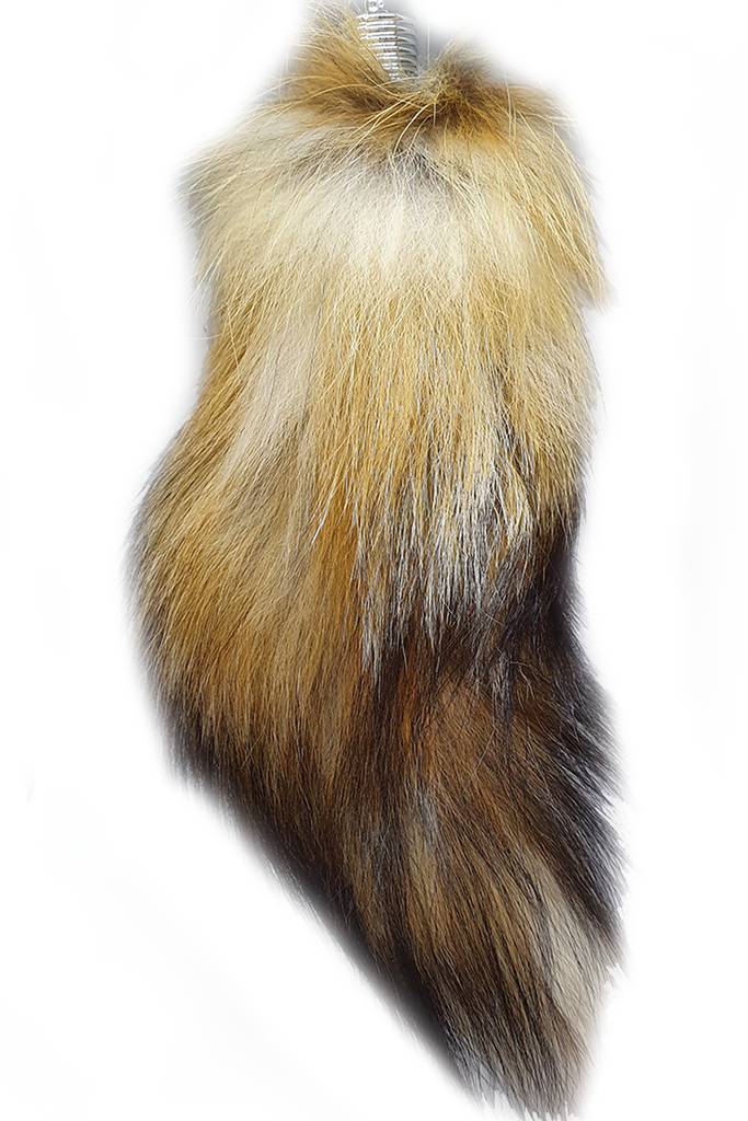Real Fox Tail Keyring