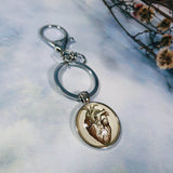 Anatomical Heart Keyring
