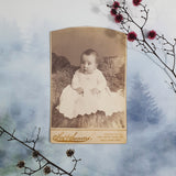 Baby in White Dress Cabinet Card