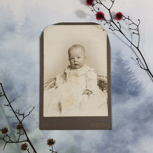 Baby in Wicker Chair Cabinet Card