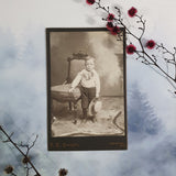 Boy With Hat And Chair Cabinet Card