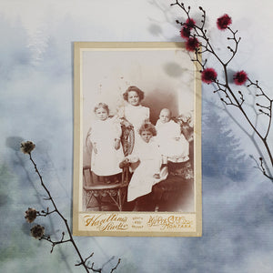 Four Siblings Family Portrait Cabinet Card
