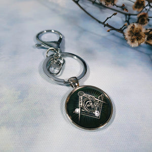 Freemason Square And Compass Keyring
