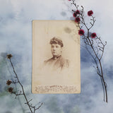 Frightened Woman Cabinet Card